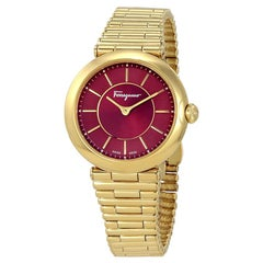 Salvatore Ferragamo Red Gold Ion-Plated  FIN060015 Women's Wristwatch 36MM