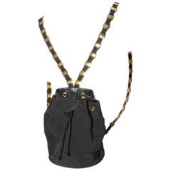 Salvatore Ferragamo Ribbon & Chain Backpack
