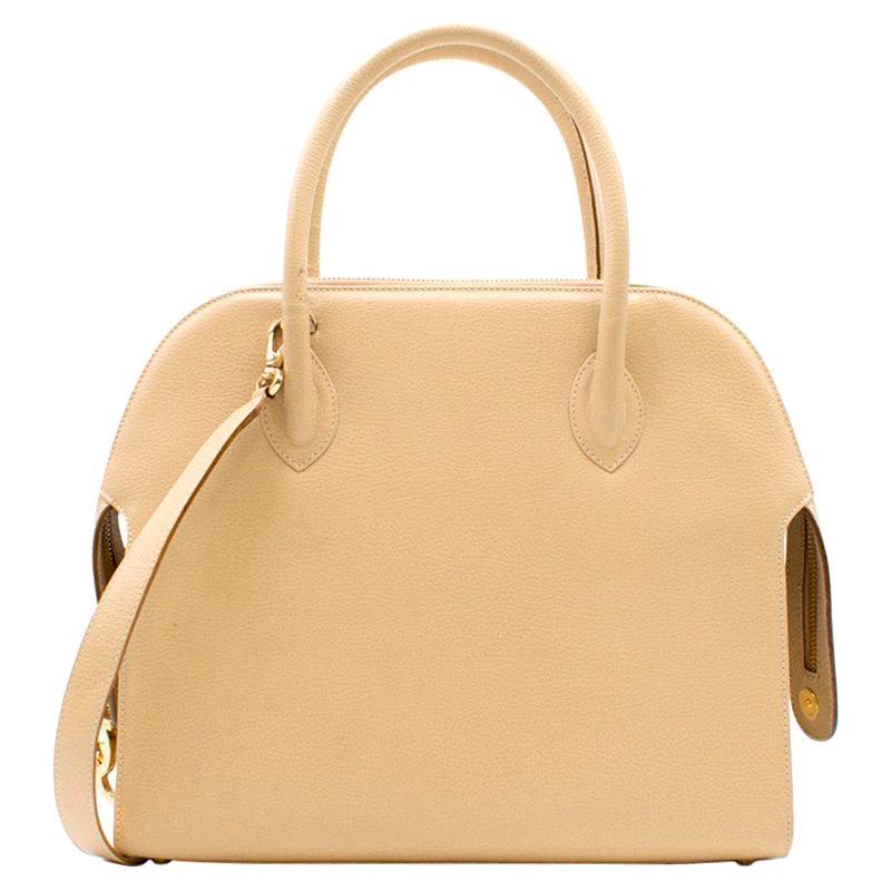Salvatore Ferragamo Sand Leather Shoulder Bag