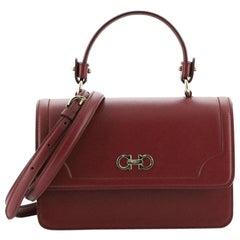 Salvatore Ferragamo Seila Top Handle Bag Leather Small