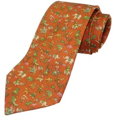 Salvatore Ferragamo Silk Men's Necktie With Raj Motif