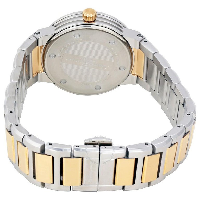 Contemporary Salvatore Ferragamo Silver Stainless Steel F-80 Women's Wristwatch 33MM For Sale