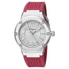 Salvatore Ferragamo Silver Stainless Steel FIG010015 Women's Wristwatch 33MM