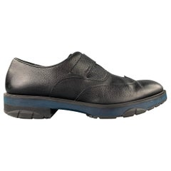 SALVATORE FERRAGAMO Size 12 Black Leather Monk Strap Loafers