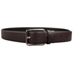 SALVATORE FERRAGAMO Size 40 Brown Leather Belt