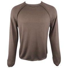 SALVATORE FERRAGAMO Size M Taupe Solid Wool / Silk / Cashmere Raglan Pullover