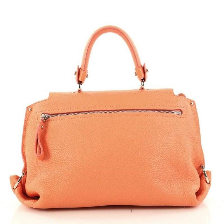 3366eb8e1a6 Salvatore Ferragamo Sofia Satchel Pebbled Leather Large In Excellent  Condition For Sale In New York,