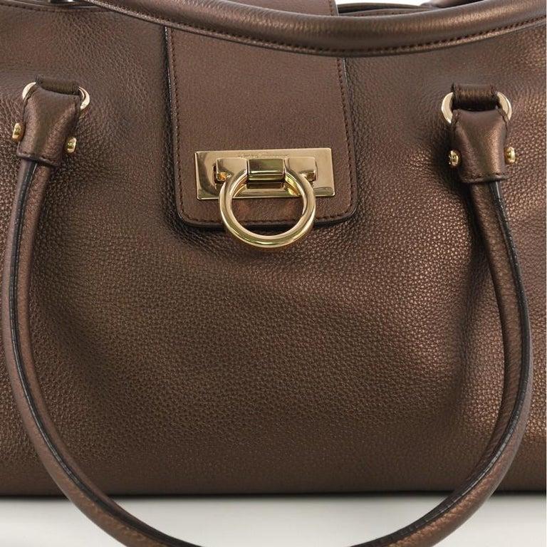 e211a13fce Salvatore Ferragamo Soft Sofia Tote Leather Large For Sale at 1stdibs