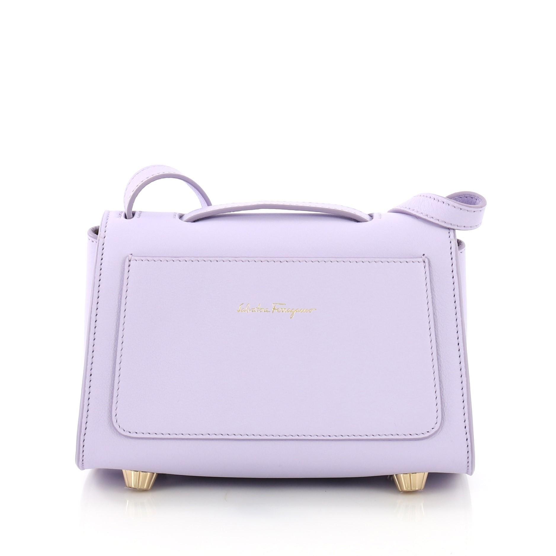 733dc90a1f Salvatore Ferragamo Stella Crossbody Bag Leather Mini For Sale at 1stdibs