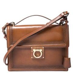 Salvatore Ferragamo Tan Leather Aileen Shoulder Bag