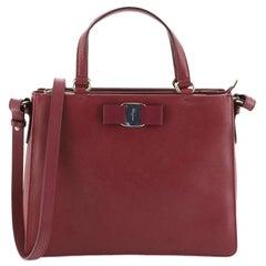 Salvatore Ferragamo Tracy Handbag Saffiano Leather Small