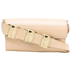 Salvatore Ferragamo Triple Plaque Shoulder Bag