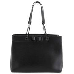 Salvatore Ferragamo Vara Bow Double Handle Bag Leather Medium