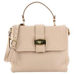 Salvatore Ferragamo Vara Bow Top Handle Bag Leather Small
