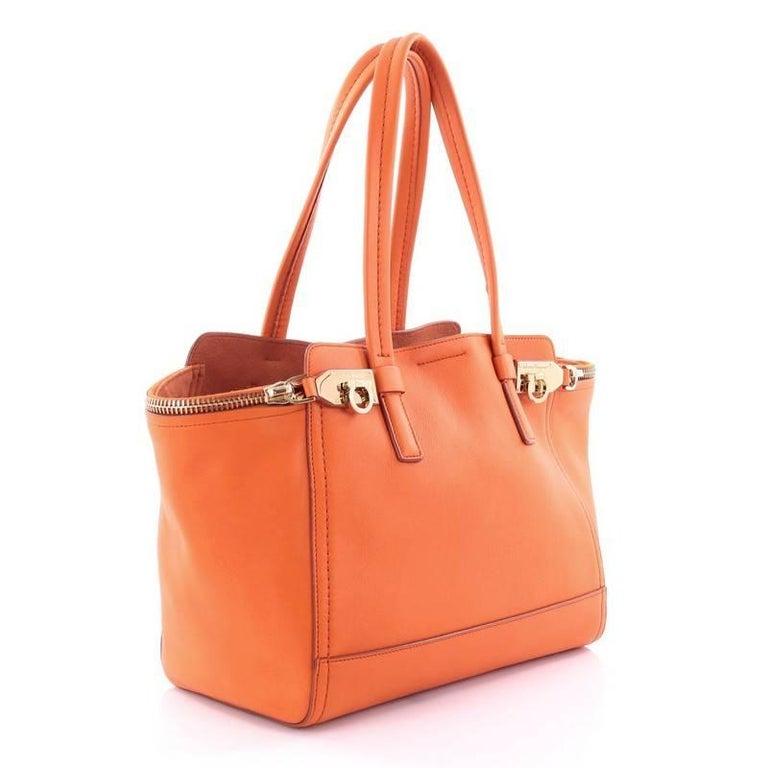 ddd2e007dd Orange Salvatore Ferragamo Verve Tote Leather Medium For Sale