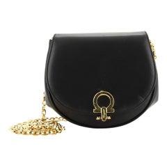 Salvatore Ferragamo Vintage Gancio Convertible Chain Waist Bag Leather Mini