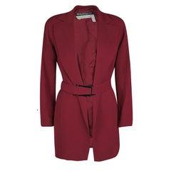 Salvatore Ferragamo Vintage Red Belted Coat M