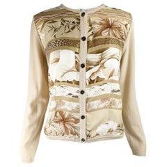 Salvatore Ferragamo Vintage Silk & Wool Cardigan Sweater
