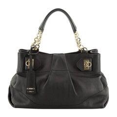 Salvatore Ferragamo W Chain Tote Leather Medium