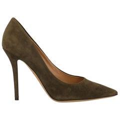 Salvatore Ferragamo Woman Pumps Green Leather US 9