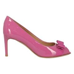 Salvatore Ferragamo Woman Pumps Pink Leather IT 37.5