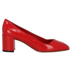Salvatore Ferragamo Woman Pumps Red Leather US 6.5