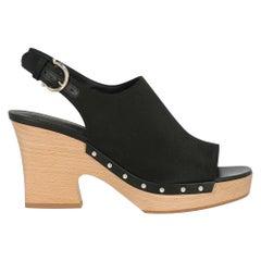 Salvatore Ferragamo Woman Sandals Black Fabric US 5.5
