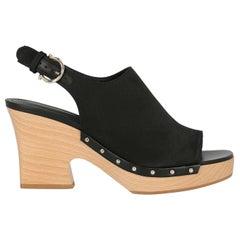 Salvatore Ferragamo Woman Sandals Black Fabric US 6.5