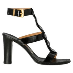 Salvatore Ferragamo Woman Sandals Black Leather US 8