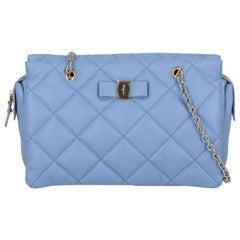 Salvatore Ferragamo Woman Shoulder bag Blue Leather