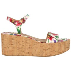 Salvatore Ferragamo Woman Wedges Multicolor, White EU 36