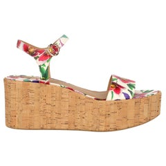 Salvatore Ferragamo Woman Wedges Multicolor, White EU 39