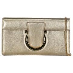 Salvatore Ferragamo  Women   Shoulder bags  Gold Leather
