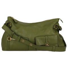 Salvatore Ferragamo  Women   Shoulder bags  Green Leather