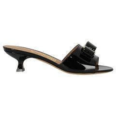 Salvatore Ferragamo Women's Sandals Black Leather Size IT 35.5