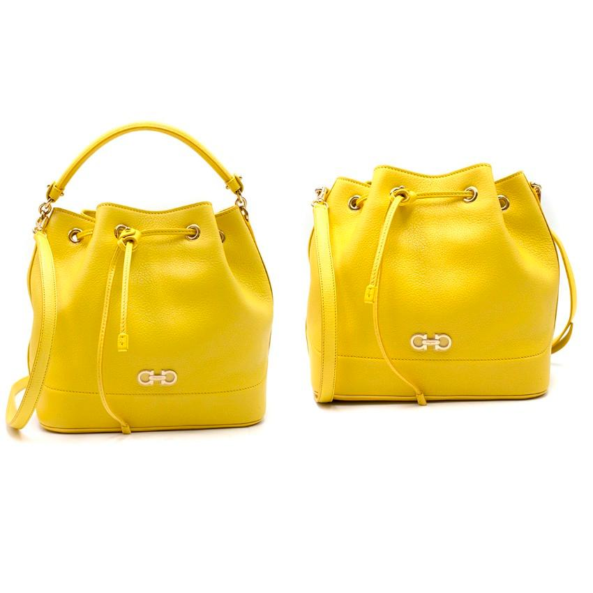 328cc5b000 Salvatore Ferragamo Yellow Leather Mille Bag For Sale at 1stdibs