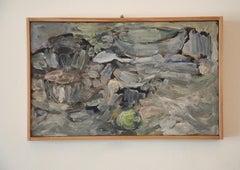 Salvatore Grippi, Abstract Still Life Oil on Board