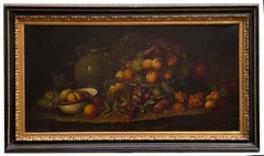 STILL LIFE - In the Manner of Adriaen Coorte - Oil on Canvas  Italian Painting