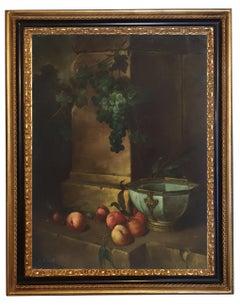 STILL LIFE - Dutch School - Italian Oil on Canvas Painting