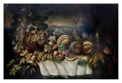 STILL LIFE - Salvatore Marinelli Italian oil on canvas painting
