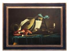 STILL LIFE - French School - Oil on Canvas Italian Painting