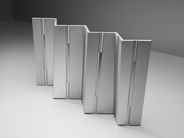 Mid-Century Modern Salvatore Messina Metal Screen Sculpture For Sale