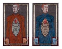 Cosmas and Damian - Original Painting by Salvatore Travascio - 2012