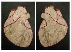 Face to Face (Hearts) - Original Painting by Salvatore Travascio - 2012