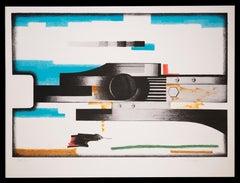 Geometric Figures - Original Lithograph by Salvatore Viaggio - 1970 ca.