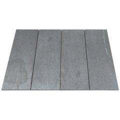 Salvatori Filo Flush 4  100 Shower Tray in Cotone Texture Gris du Marais Marble