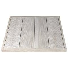 Salvatori Filo Raised 4 108 Shower Tray in Bamboo Texture Silk Georgette Stone