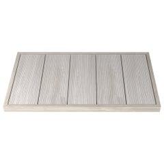 Salvatori Filo Raised 5/88 Shower Tray in Bamboo Texture Silk Georgette Stone