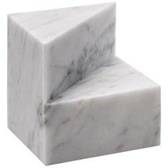 Salvatori Kilos Cube Paperweight in Bianco Carrara Marble by Elisa Ossino