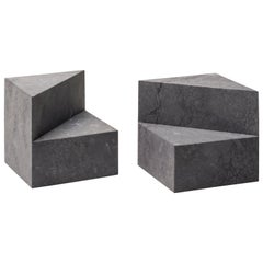 Salvatori Kilos Cube Paperweight in Nero Marquina Marble by Elisa Ossino